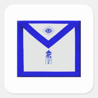Adesivo Quadrado Warden júnior maçónico Avental