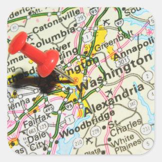 Adesivo Quadrado Washington