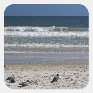 Adesivo Quadrado Watchin o rolo da maré afastado
