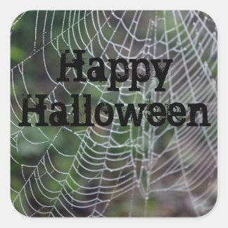 Adesivo Quadrado Web de aranha