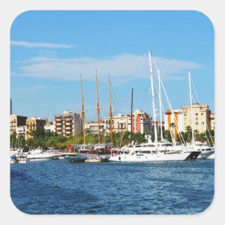 Adesivo Quadrado Yachting