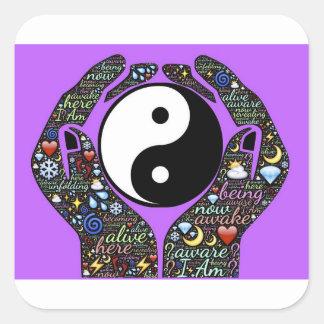 Adesivo Quadrado Yin, Yang