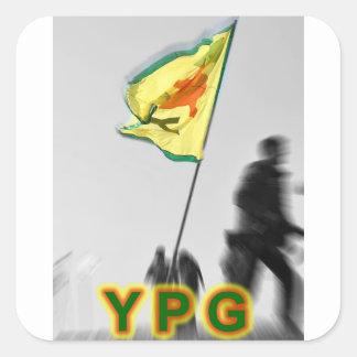 Adesivo Quadrado YPG - Lutadores curdos da liberdade de Kobani