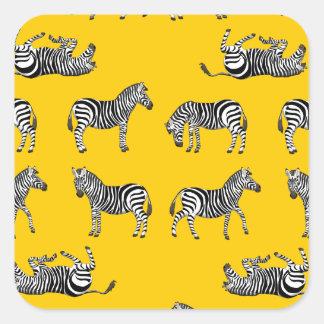 Adesivo Quadrado Zebra selecção
