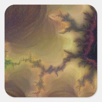 Adesivo Quadrado Zumbido de da Vinci Mandelbrot