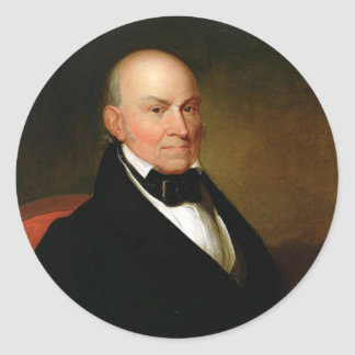 Adesivo Redondo 06 John Quincy Adams