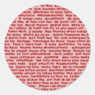 Adesivo Redondo 100 maneiras de dizer eu te amo