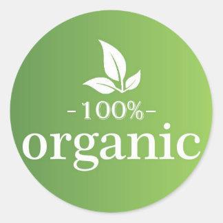 Adesivo Redondo 100% orgânico