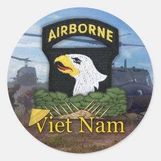 Adesivo Redondo 101st Veteranos Vietnam da divisão