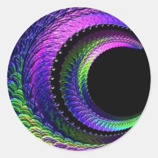 Adesivo Redondo 108-40 lua escura do crescente do arco-íris