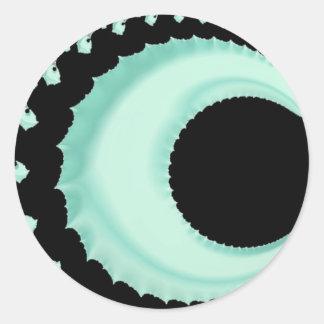 Adesivo Redondo 108-48 lua crescente verde pálido