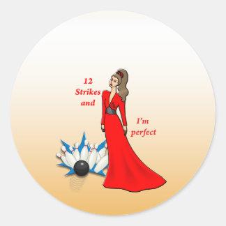 Adesivo Redondo 12 greves e eu somos #2 perfeitos