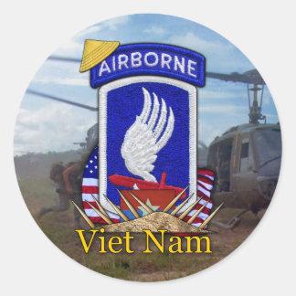 Adesivo Redondo 173rd guerra do vietname da brigada transportada
