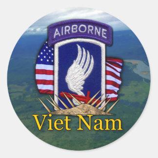 Adesivo Redondo 173rd Veterinários dos veteranos de Vietnam da