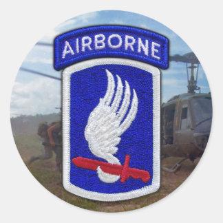Adesivo Redondo 173rd Veterinários LRRP dos veteranos da brigada