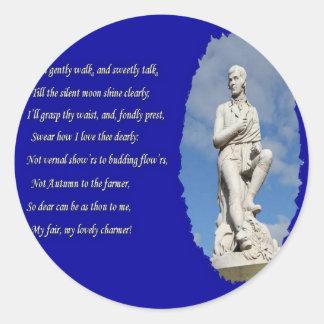 Adesivo Redondo 1759-1796) poemas e canções de Robert Burns (