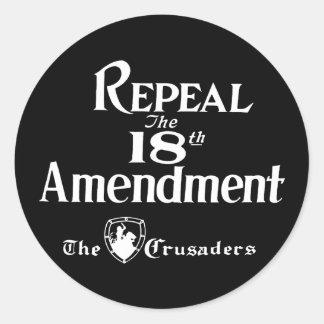 Adesivo Redondo 18o Alteração