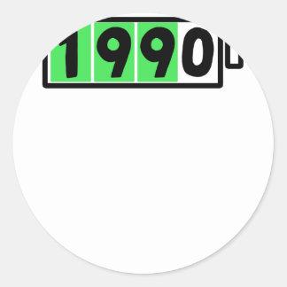 ADESIVO REDONDO 1990