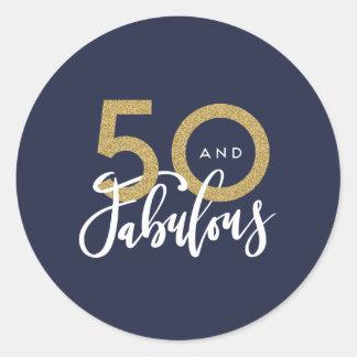 Adesivo Redondo 50 e fabuloso
