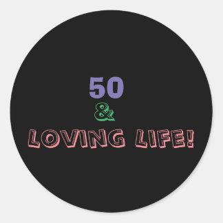Adesivo Redondo 50 & vida Loving