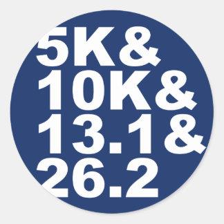 Adesivo Redondo 5K&10K&13.1&26.2 (branco)