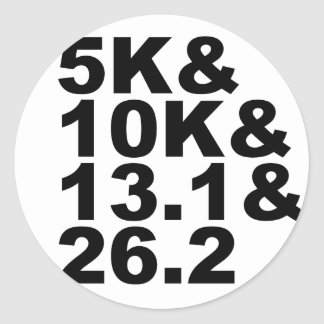 Adesivo Redondo 5K&10K&13.1&26.2 (preto)