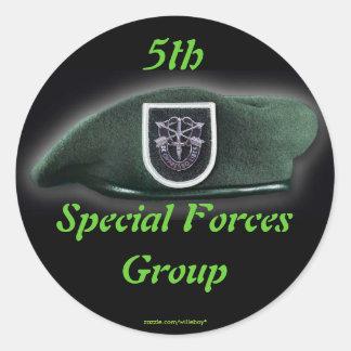 Adesivo Redondo 5o Veteranos de Fort Campbell do grupo das forças