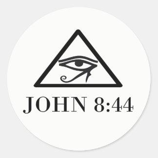 Adesivo Redondo 8:44 de JOHN