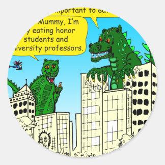 Adesivo Redondo 920 monstro comem estudantes da honra para a