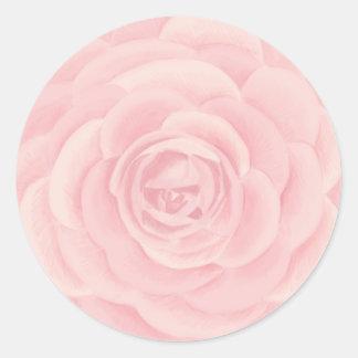 Adesivo Redondo A aguarela cor-de-rosa aumentou