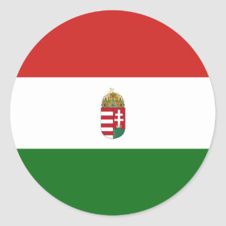 Adesivo Redondo A bandeira de Hungria