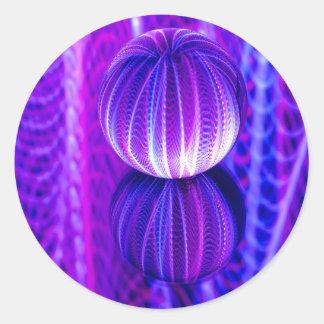 Adesivo Redondo a bola de cristal reflete