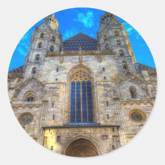 Adesivo Redondo A catedral Viena de St Stephen