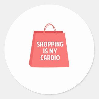Adesivo Redondo A compra é meu cardio-