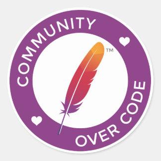 Adesivo Redondo A comunidade sobre o código