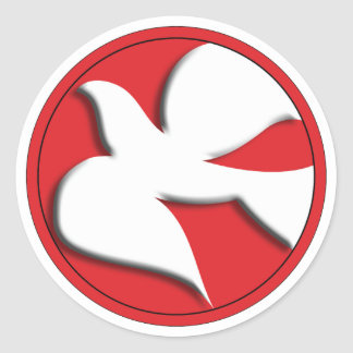 Adesivo Redondo A confirmação mergulhou no círculo vermelho