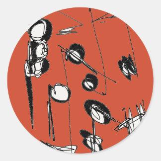 Adesivo Redondo A contagem da vida - as notas que o inspiram