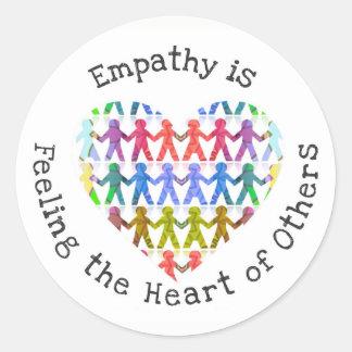 Adesivo Redondo A empatia está sentindo o coração de outro