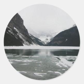 Adesivo Redondo A extremidade do inverno, Lake Louise
