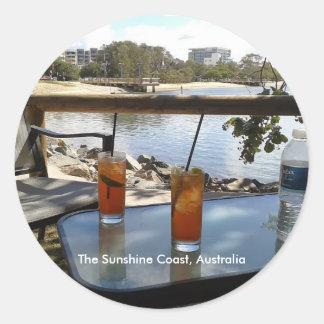 Adesivo Redondo A foto de Austrália da costa da luz do sol