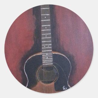 Adesivo Redondo A guitarra de Ryan