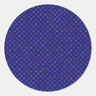 Adesivo Redondo a linha transversal abstrato dos pontos do design