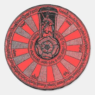 Adesivo Redondo A mesa redonda de Arthur