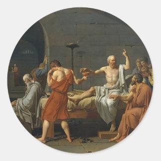 Adesivo Redondo A morte de Socrates