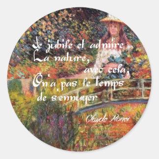 Adesivo Redondo A natureza no art. de Monet