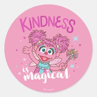 Adesivo Redondo Abby Cadabby - a bondade é mágica