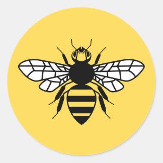Adesivo Redondo Abelha de Manchester
