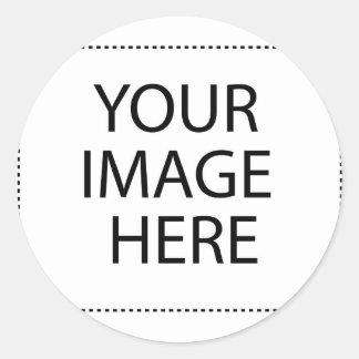 Adesivo Redondo Abelha em um cardo de lança