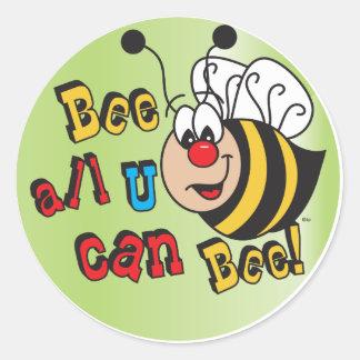 Adesivo Redondo Abelha toda você pode abelha