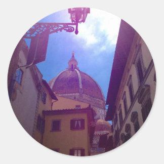 Adesivo Redondo Abóbada de Brunelleschi em Florença, Italia